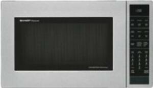 Sharp SMC1585BS 1.5 Cf 900 Watts Convection Sensor Interactive