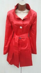 Trench Posh Mac Karen Long Statement Coat Jacket Uk Millen Red 12 wYqxan6H
