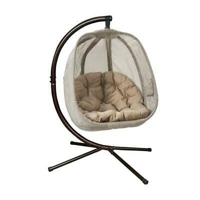Mid Century Rattan Chair, Flowerhouse Egg Hanging Swing Chair With Stand Bark Fhec100 Brk 892514100143 Ebay