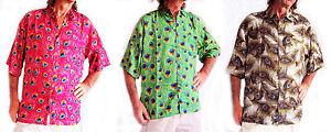 Al Camicia Motivo Cebilato Pavone Vacanza Loud Piuma Addio Hawaiana WaxOn17g
