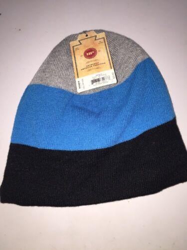*NEW Urban Pipeline Men/'s Wide Striped Beanie Ski Cap Black Blue Grey One Size