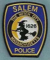 SALEM MASSACHUSETTS POLICE PATCH WITCH CITY