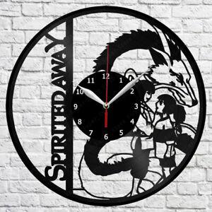 Spirited Away Vinyl Clock Record Wall Clock Decor Fan Art Home 12 30cm 2710 Ebay