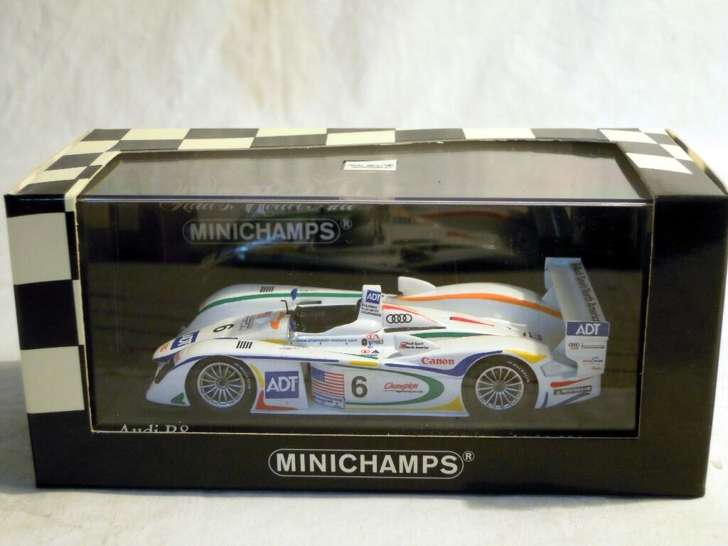 Minichamps 400031306  Audi R8, Le Mans 24hrs 2003, limitiertes Modell, NEU & OVP