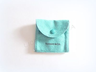 TIFFANY & CO SNAP SUEDE POUCH BLUE SNAP POUCH ESTATE RETIRED TIFFANY USA TC0