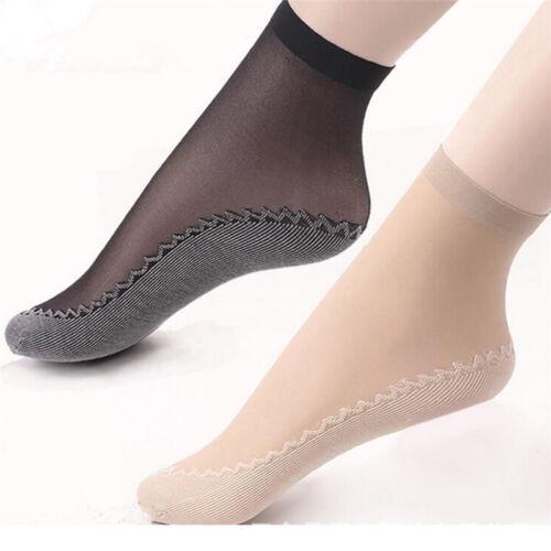 10pcs Women Velvet Silk Socks Cotton Bottom Non Slip Sole Massage Socks ed
