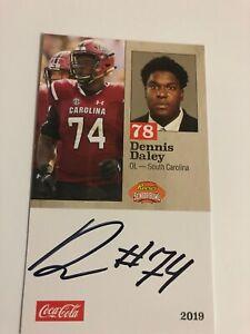 wholesale dealer 70e1a dc56d Details about Dennis Daley 2019 Signed Senior Bowl Football Card South  Carolina