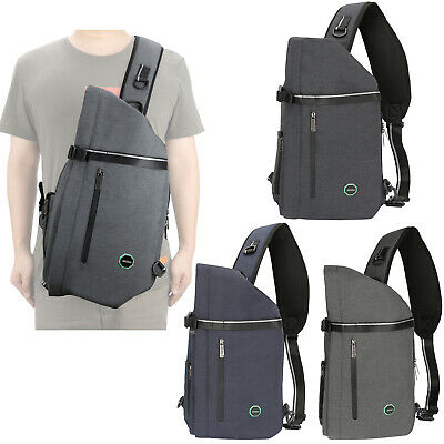 Men Large Laptop Sling Bag Backpack Purse Canvas Nylon Travel School Ebay