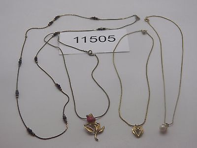 Vintage Jewelry LOT OF 4 Necklaces GOLD TONE 11505