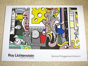 "ROY LICHTENSTEIN POSTER /""GO FOR BAROQUE/"" 1994 GUGGENHEIM MUSEUM ORIGINAL PLAKAT"