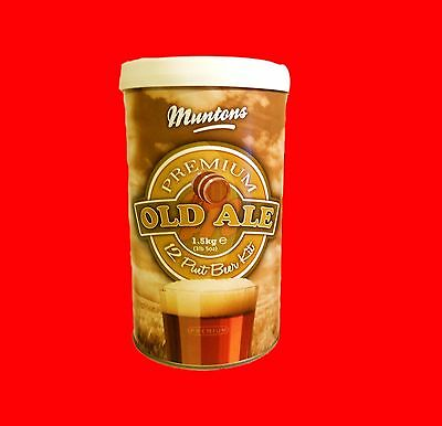 MUNTONS OLD ALE ENGLISH HOPPED MALT EXTRACT BEER BREWING INGREDIENT KIT MUNTON'S