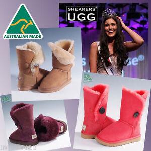 Premium-Hand-Made-Australia-Shearers-UGG-Single-Button-Sheepskin-Short-Boots