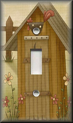 Light Switch Plate Cover - Country Outhouse - Primitive Home Decor - Bathroom