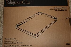 Pampered Chef Stoneware Toaster Oven Pan Item 1448 Small