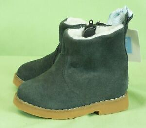 NWOB Janie and Jack Suede Driving Shoe Gray Sz 9