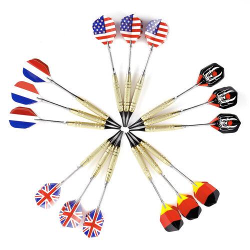 7-21st Stahl Soft Dart Pfeile Dartpfeil SET Dartflights+100 Dartersazspitzen