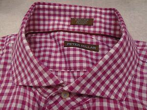 Peter-Millar-100-Cotton-Pick-Stitch-Collection-Gingham-Sport-Shirt-NWT-XL-178