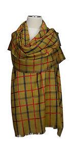 Pashmina-Schal-Karo-Tartan-80-Wolle-20-Seide-wool-silk-echarpe-foulard