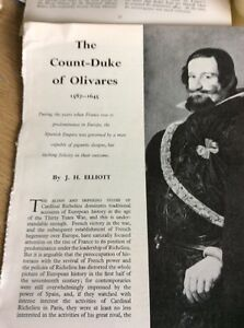 T18 Ephemera 1963 Article The Count Duke Of Olivares 1587  1645 Elliott - <span itemprop=availableAtOrFrom>Leicester, United Kingdom</span> - Returns accepted Most purchases from business sellers are protected by the Consumer Contract Regulations 2013 which give you the right to cancel the purchase within 14 days after the da - Leicester, United Kingdom