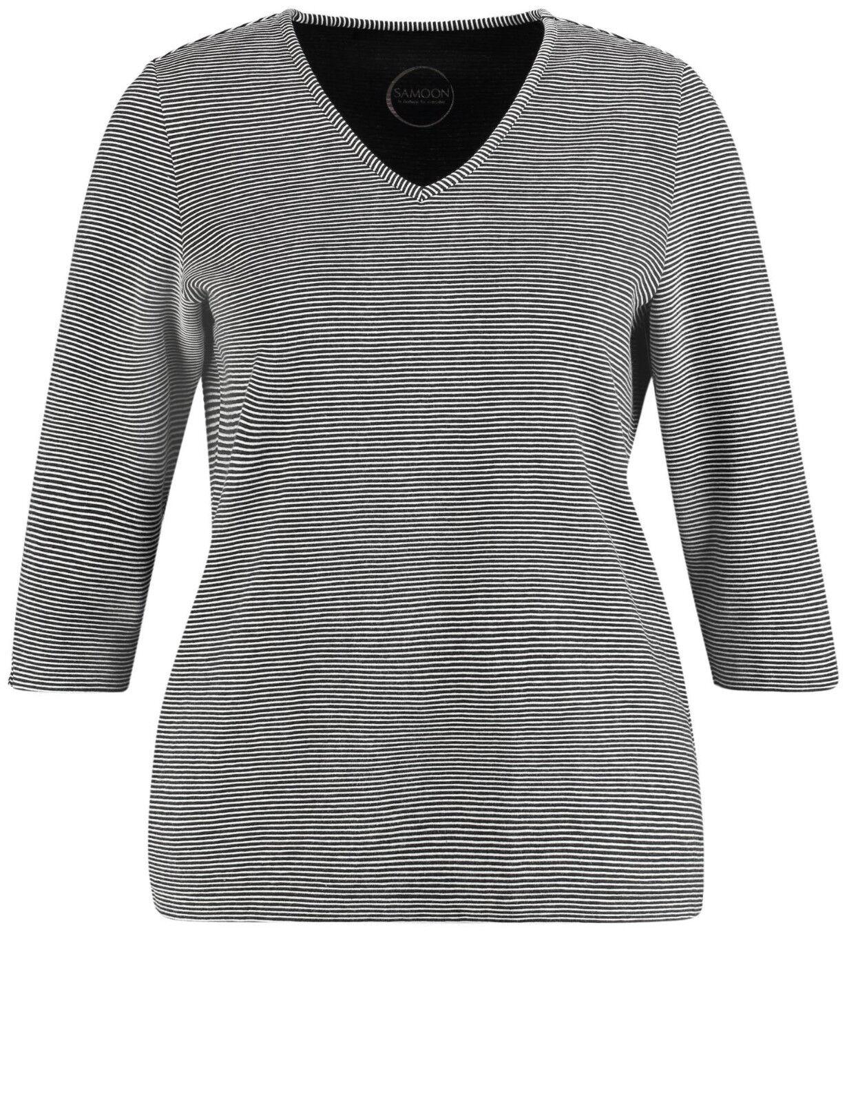 Samoon V-shirt con cuciture-struttura by Gerry Weber NUOVO TSHIRT TSHIRT TSHIRT DONNA TG. 54 1b09ae