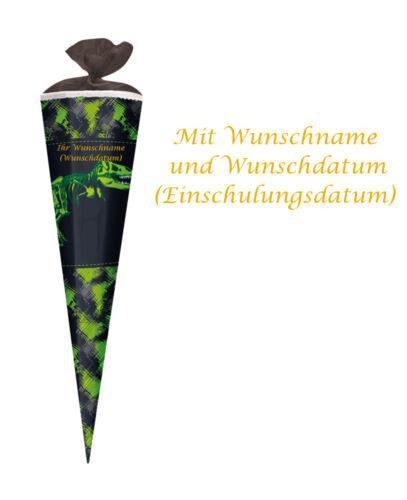 """Herlitz Schultüte mit Gravur Zuckertüte eckig 85cm /""""Dino/"""""""