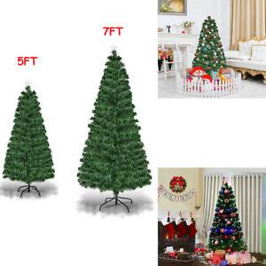 Fiber-Optic-Artificial-Green-Christmas-Tree-8-Option-Changing-Lights-LED-5FT-7FT