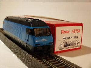 ROCO-43756-Elektrolokomotive-460-018-9-Ciba-II-SBB-h0-Digital-DC-ESU-sans-neuf-dans-sa-boite