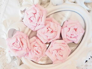 SPECIAL-Baby-WHIMSY-PINK-6-Pk-Flowers-PAPER-45-50mm-Manor-House-ConB
