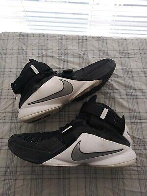 online store 0b436 e68af Nike LeBron James Zoom Soldier IX TB Men's Size 14 White/Black 749498-001    eBay