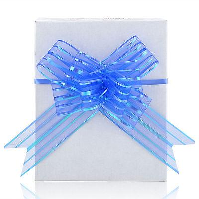 Hot 10pcs 50mm Pull Bow Decorations Large Wedding Car Xmas Gift Wrap Floristry