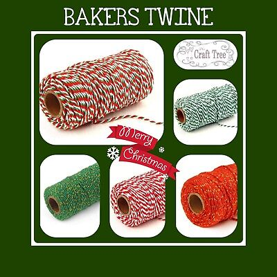 Christmas Craft Gold Sparkle Packaging String 10m Metallic Gold Bakers Twine