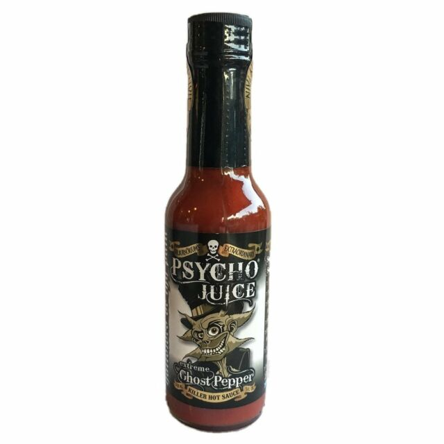 """""""Psycho Juice"""" - Extreme Ghost Pepper"""" - ULTRA HOT Chilli Sauce!"""