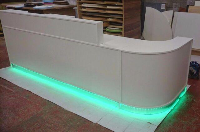 Reception Desk In White High Gloss Designer S Curved Surgery Dentist