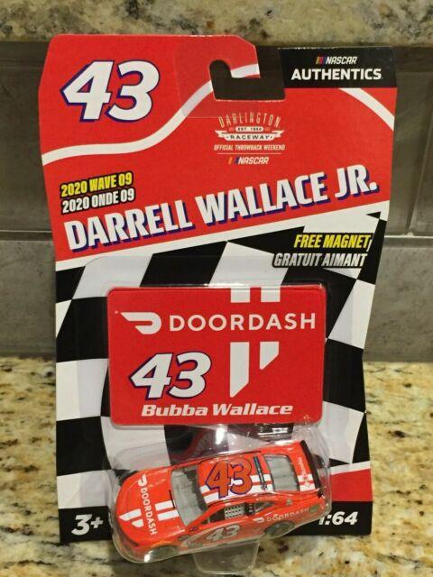 "Darrell ""Bubba"" Wallace Jr DoorDash NASCAR Authentics 2020 Wave 9 #43 Die-Cast"