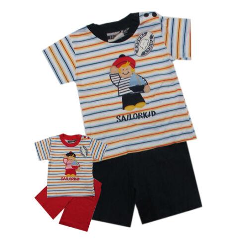 NEU Tricky Tracks Babyanzug 2-teilig T-Shirt Shorts Gr 74