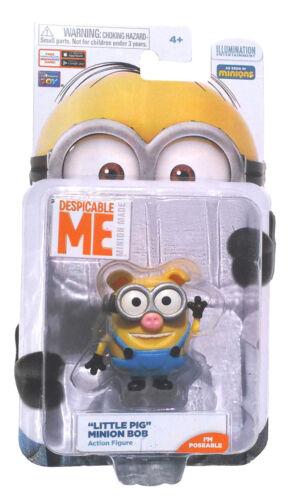 """Méprisable Me /""""petit cochon/"""" minion Bob Minion fait exposer Action Figure New in package"""