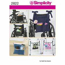 Simplicity 2822 Paper Sewing Pattern Accessories Wheelchair Walker Chair Totes