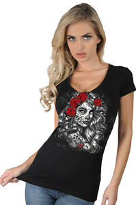 Womens Sugar Skull Shirts