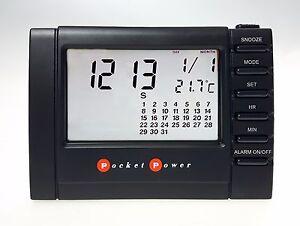 Réveil de Voyage Avec Écran LCD Transparent Pocket Power PP7139