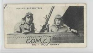 1937-Wills-Our-and-Queen-Tobacco-Base-7-The-King-as-airman-Non-Sports-Card-1i3