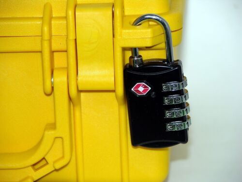 Fits your Pelican ™ case 1 TSA Traditional Hard Shackle 4 dial combination Lock
