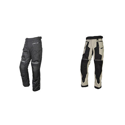 Black Large L Scorpion Men/'s YUMA Textile//Mesh Motorcycle Touring Pants