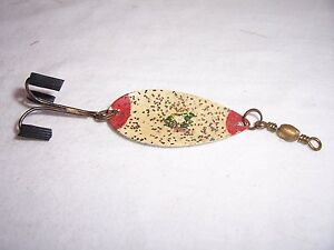 VINTAGE-PFLUEGER-3-LUMINOUS-FROG-SPOON-FISHING-LURE