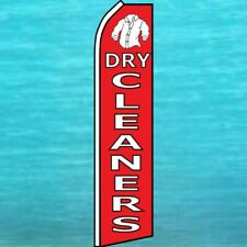 Dry Cleaners Flutter Flag Tall Curved Advertising Banner Sign Feather Swooper
