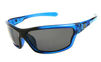 Gentlemen Mens Polarized Wrap Around Sunglasses Tone Transparent Blue Frame NT01