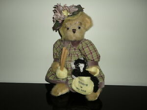 Bearington Bear MRS KNITTER PEARL CAT Handcrafted Jointed Limited Edition Retire