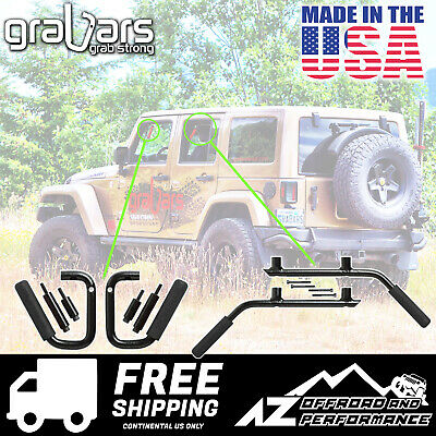 Blue Made in The USA GraBars Steel Handles 2007-2018 for Jeep Wrangler 2DR JK Front Only
