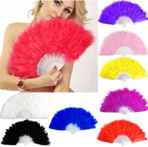 Dekoration Damen-accessoires Angemessen Feder Fächer Taschenfächer Handfächer Flamenco Tanz 8 Farben Wedler Fecher