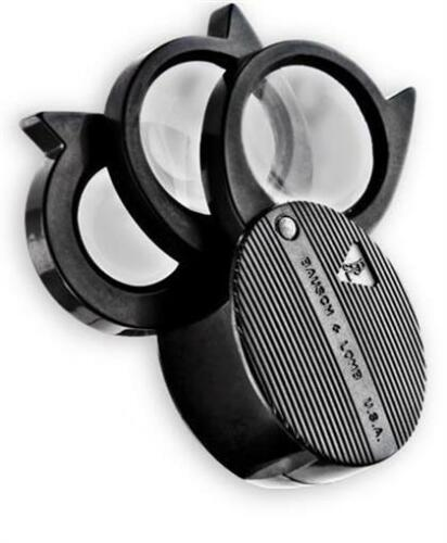Bausch /& Lomb 3 Lens Coin Magnifier Folding Pocket Loupe 5X 20X Jewelry Stamps