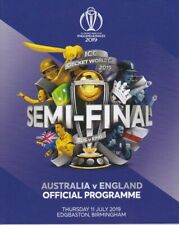 AUSTRALIA v ENGLAND CRICKET WORLD CUP SEMI FINAL PROGRAMME 2019 EDGBASTON